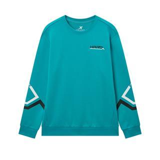 特步 专柜款 男子卫衣 2020春季新款圆领舒适运动卫衣保暖套头衫980129920111