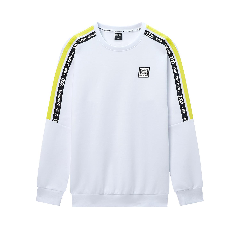 【暖春焕新】特步 专柜款 男子卫衣 2020春季新款圆领舒适运动卫衣保暖套头衫980129920187