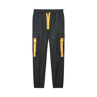 【变形金刚联名款】特步 专柜款 男子梭织长裤 20年春新款时尚飘带工装裤980129560457