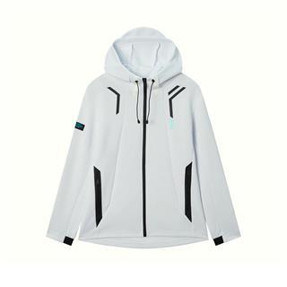 特步 专柜款 男子外套 2020年春季新款休闲时尚综训针织连帽上衣980129940113