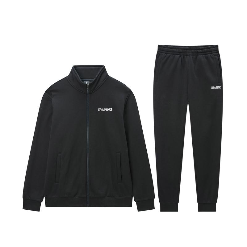 【加绒款】特步 男子针织套装 19冬新款加绒针织外套长裤两件套881429969260