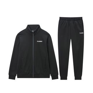 【加绒款】特步 男子针织套装 加绒针织外套长裤两件套881429969260