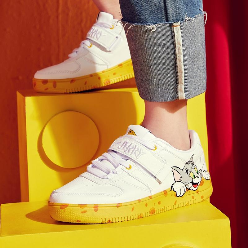 【猫和老鼠联名款】特步 专柜款 女子板鞋 20年春新款景甜同款时尚女鞋980118316606
