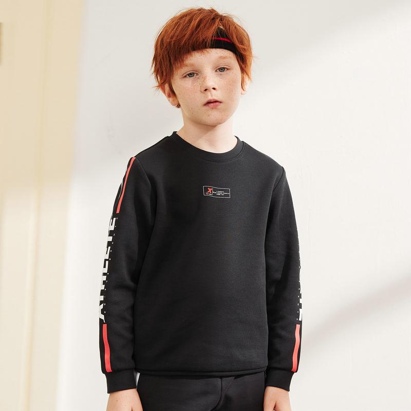 特步 男童卫衣 春新款中大童儿童套头衫680125209372