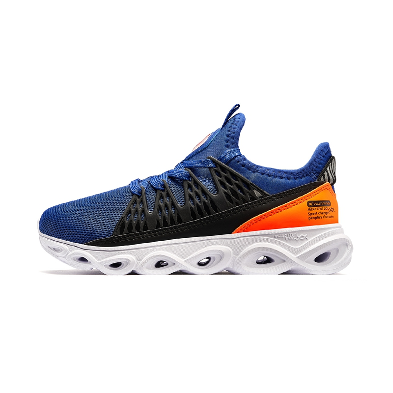 特步 男童跑鞋 20年春新款中大童儿童减震旋运动鞋680115119602