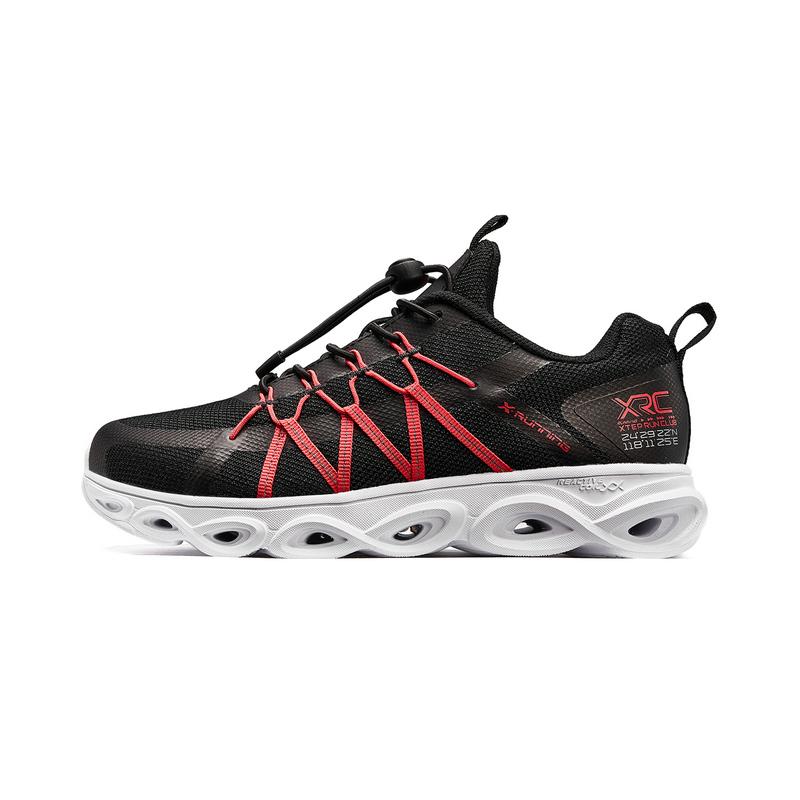 特步 男童跑鞋 20年春新款中大童儿童减震旋透气网面运动鞋680115119600
