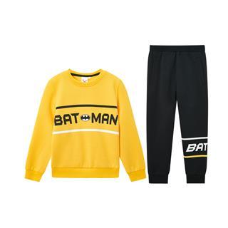 【蝙蝠侠联名款】特步 男童套装 儿童长袖针织套装2020年春季新男中大童2件套680125349381
