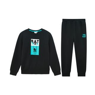 【蝙蝠侠】特步 男童针织套装 20年春新款中大童儿童卫衣长裤两件套680125349330