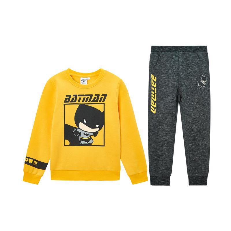 【蝙蝠侠联名款】特步 男童套装 儿童套装男小童卫衣裤子2件套20春季新款680125349307