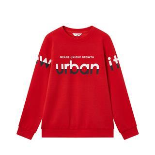 特步 男童卫衣 20年春新款中大童儿童字母休闲套头衫680125209364