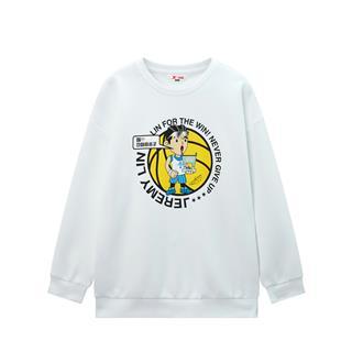 【林书豪联名款】特步 男童卫衣 儿童卫衣男童中大童套头卫衣2020年春卡通680125209403