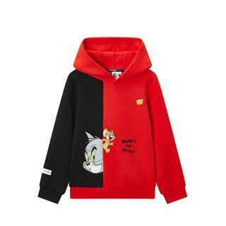 特步【猫和老鼠】儿童连帽卫衣男小童套头衫时尚休闲680125083212