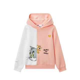 特步【猫和老鼠】儿童套头卫衣女童中大童连帽卫衣680124084213