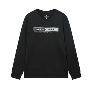 特步 专柜款 男子卫衣 2020春季新款运动休闲字母印花套头衫980129920110