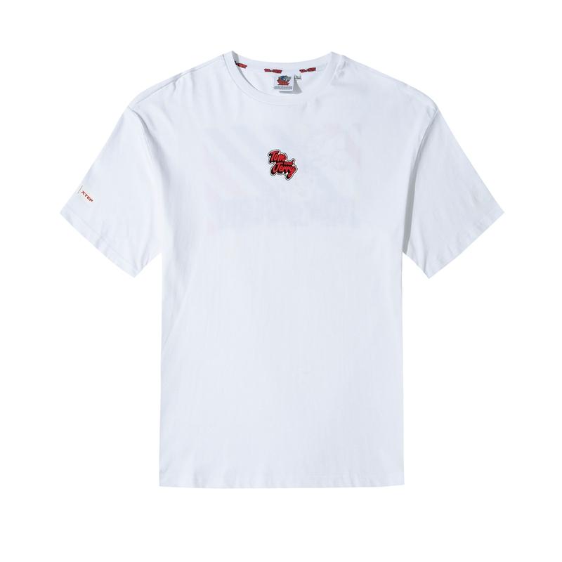 【猫和老鼠】特步 男女情侣同款 2020新款猫和老鼠联名T恤潮圆领半袖上衣880227010169