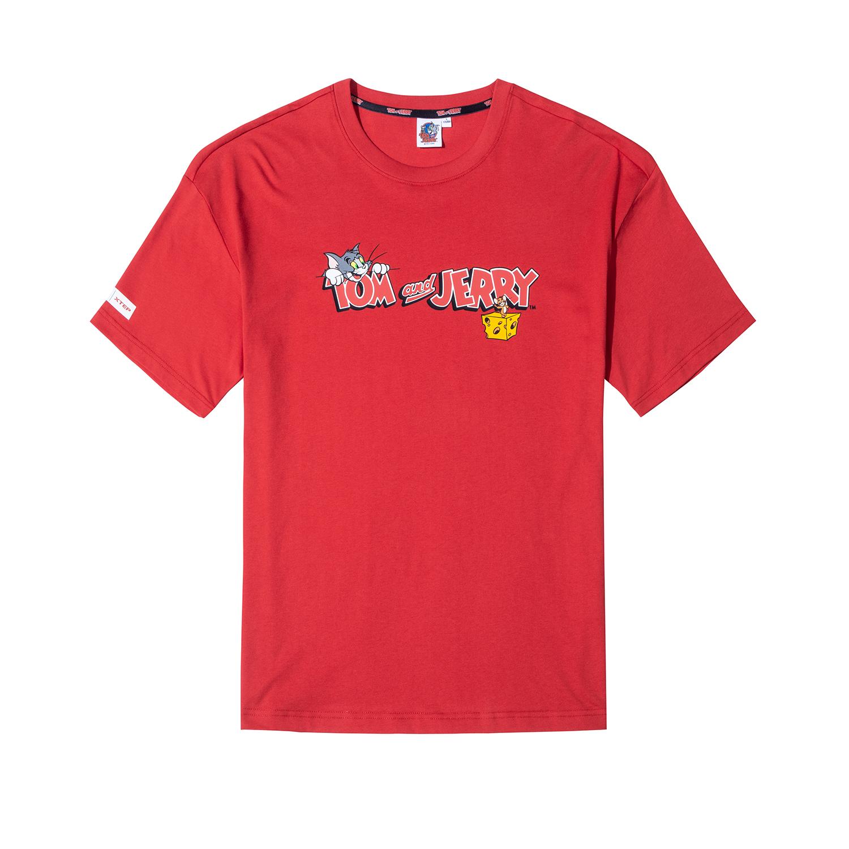 【猫和老鼠】特步 男女情侣同款 新款猫和老鼠联名情侣T恤内搭半袖女上衣880227010168