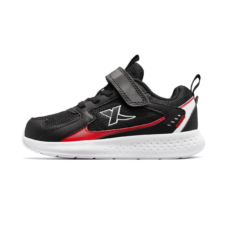特步 男女童跑鞋 20年春新款小童魔术贴儿童运动鞋680116119606