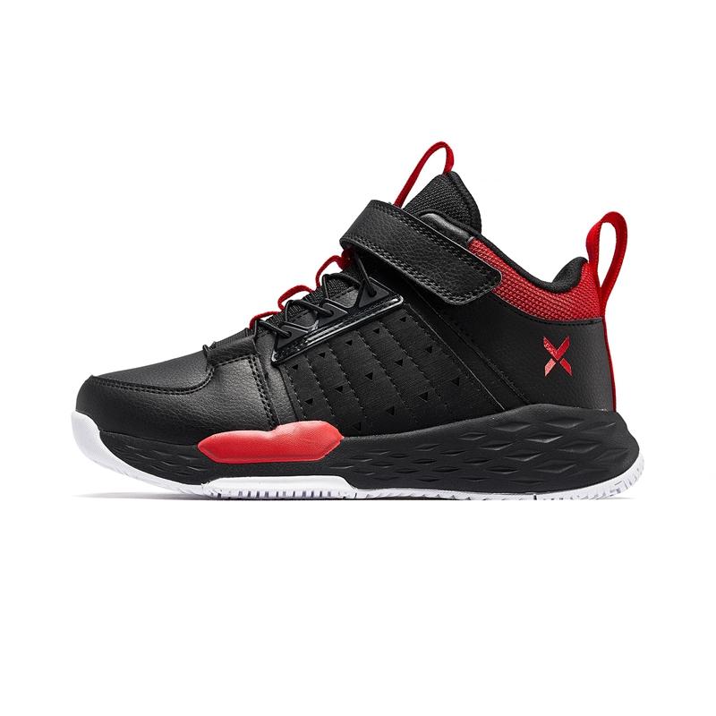 特步 男童篮球鞋 20年春季男童篮球鞋高帮中大童保暖儿童运动鞋680115129369