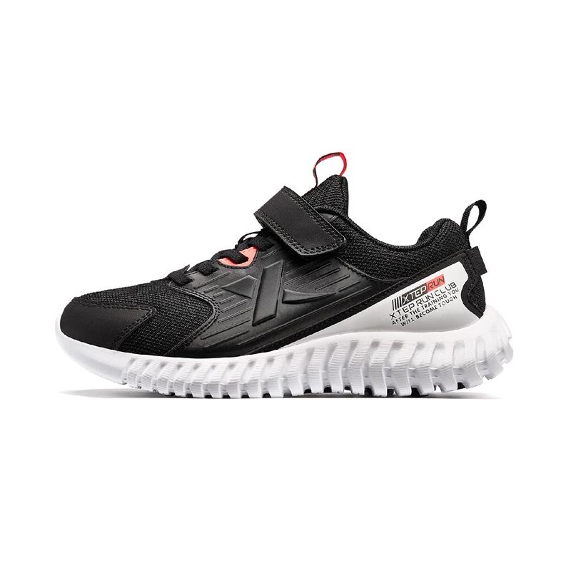 特步 男童跑鞋 2020春季密网透气儿童运动鞋软底中大童跑步鞋680115119605