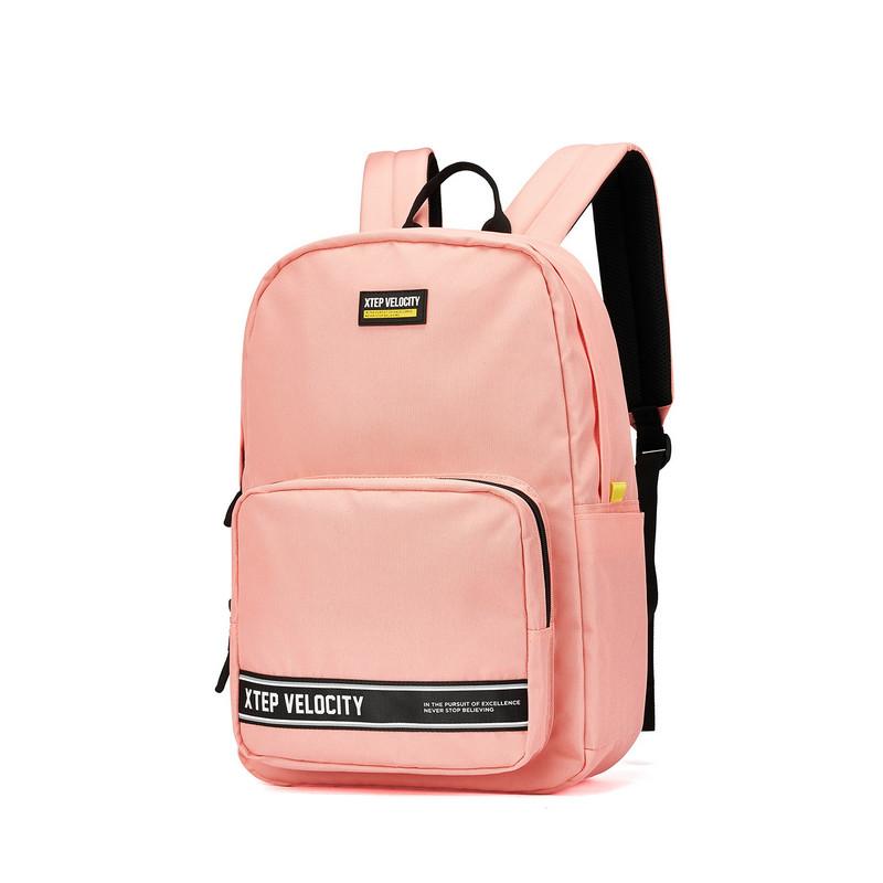 特步 男女双肩包 20年新款运动背包书包旅游包时尚简约休闲背包881337119085