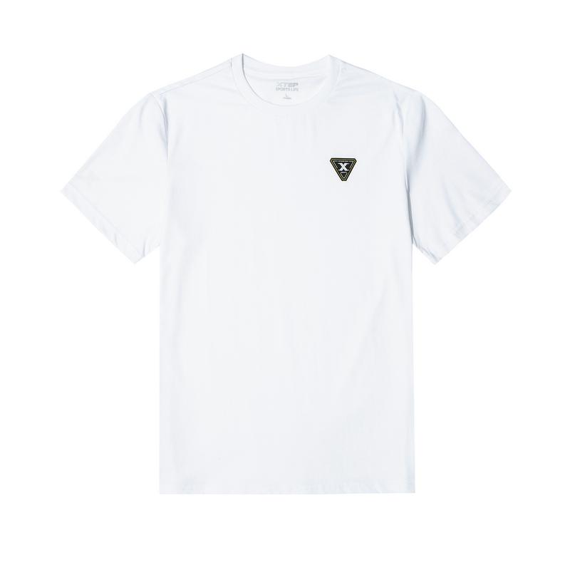 特步 男子短袖针织衫 都市时尚百搭活力透气短T880229010126