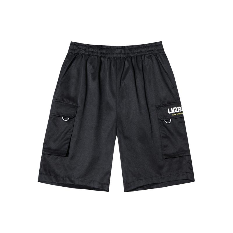 特步 男子梭织中裤 新款舒适透气百搭梭织五分裤880229680144
