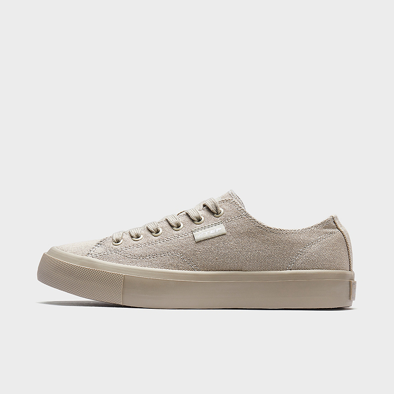 特步 女子帆布鞋 2020春季新款纯色时尚百搭休闲运动鞋学生帆布鞋子880118100011
