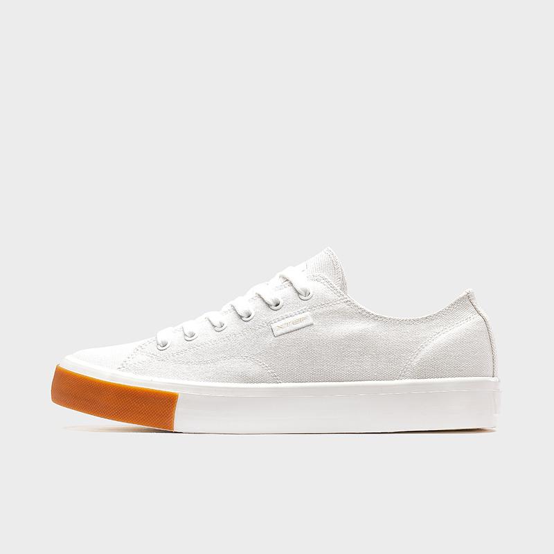 特步 男子帆布鞋 20新款纯色时尚百搭休闲鞋运动鞋学生帆布鞋880119100011