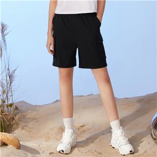 特步 女子短裤 2020夏季新款健身五分裤梭织训练运动裤跑步服女裤880228670130