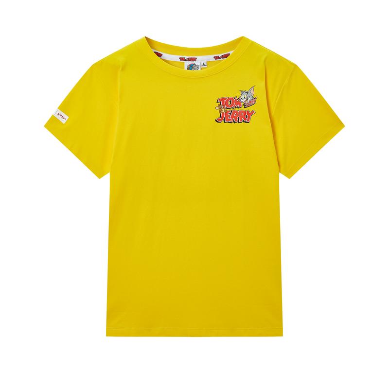 【猫和老鼠联名款】特步 专柜款 男子短袖针织衫 新款背后印花圆领T恤980129010349