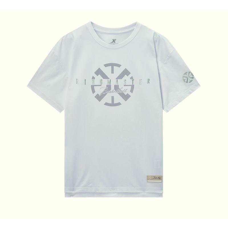 特步 专柜款 男子短袖 20年新款休闲简约T恤980129010431
