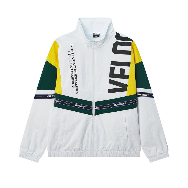特步 专柜款 男子夹克 20年春新款拉链口袋时尚外套980129120043