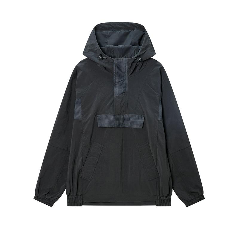 特步 专柜款 男子风衣 20年春新款连帽运动外套980129150163
