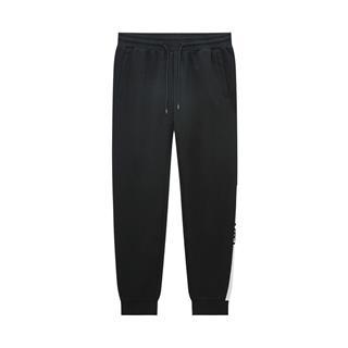 特步 专柜款 男子针织长裤 20年春新款字母运动小脚裤980129630378