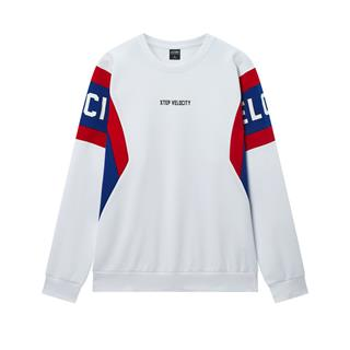 特步 专柜款 男子卫衣 20年春新款拼色圆领套头衫980129920245