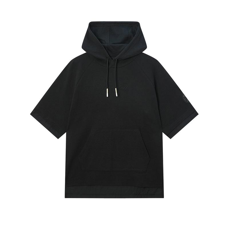 特步 专柜款 男子卫衣 20年新款篮球运动连帽短袖980129930424