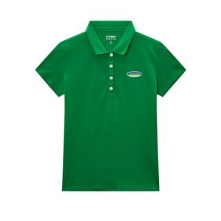 特步 专柜款 女子短袖POLO衫 20年夏新款翻领简约纯色上衣980228020017