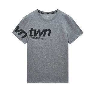 特步 专柜款 男子短袖 20年夏新款字母印花T恤980229010142