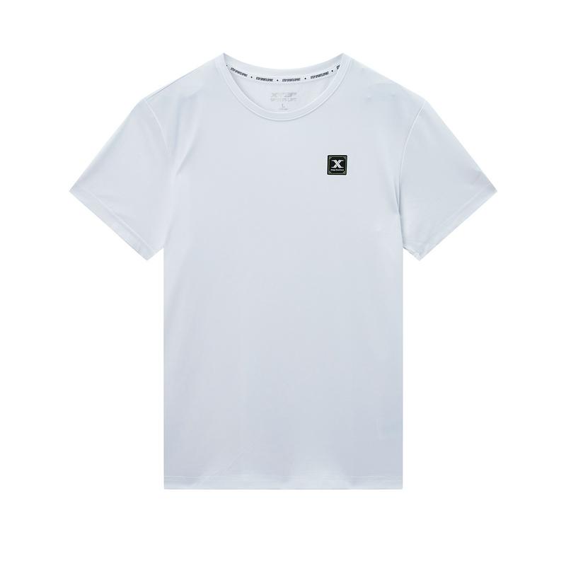 特步 专柜款 男子短袖 20年夏新款休闲圆领T恤980229010159