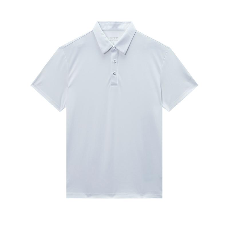 特步 专柜款 男子短袖POLO衫 20年夏新款简约休闲上衣980229020146