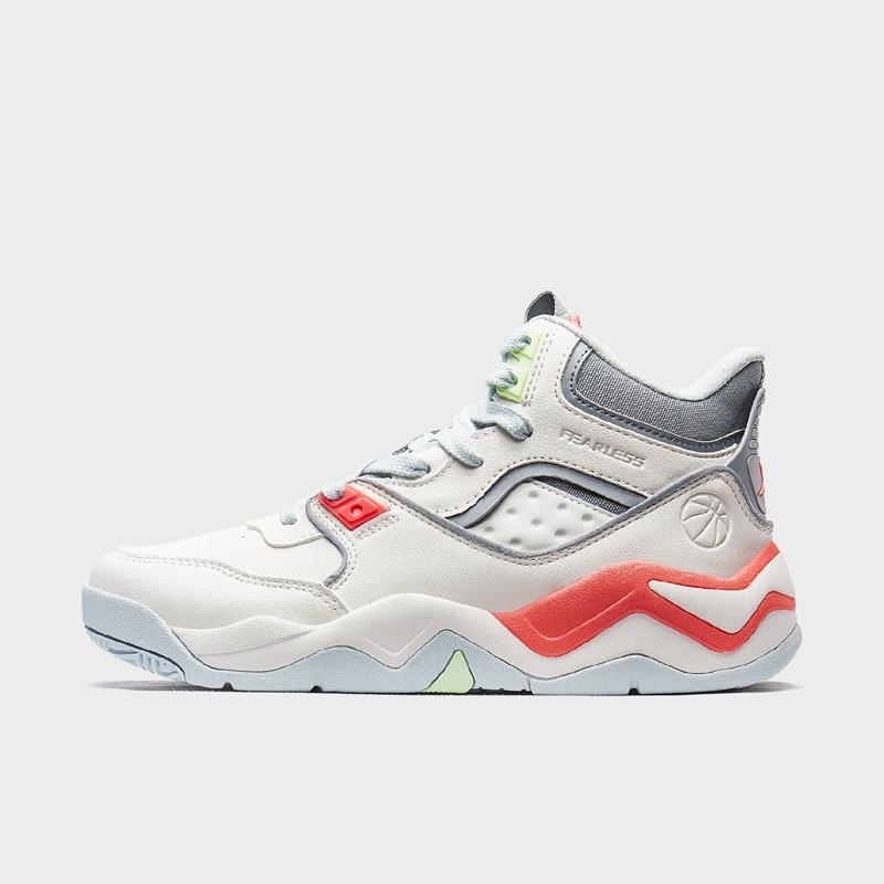 特步 专柜款 女子篮球鞋 新款舒适大底防滑耐磨高帮绒面篮球鞋980118121305