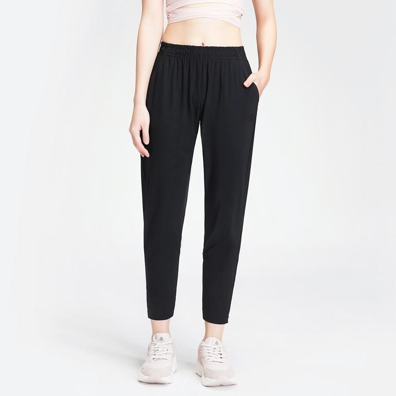 特步 女子针织九分裤 20年新款口袋健身运动裤880128A20134