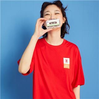 特步 男女短袖针织衫 20年夏新款情侣同款活力休闲T恤880227010211