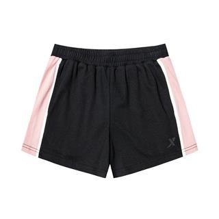 特步 女子针织短裤 20年夏新款活力拼色休闲裤880228600015