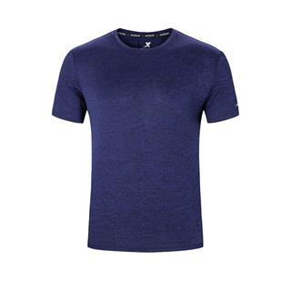 特步 男子跑步针织衫 运动舒适透气百搭短袖T恤880229010046
