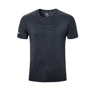 特步 男子短袖针织衫 20年夏新款纯色圆领运动T恤880229010108