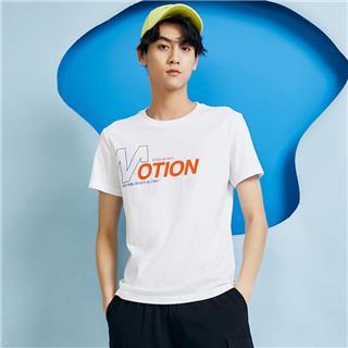 特步 男子短袖针织衫 夏季新款舒适透气活力百搭短袖T恤880229010176
