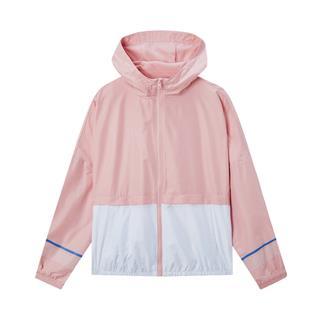 特步 专柜款 女子外套 2020春夏季新款连帽运动单风衣休闲上衣女980128150097