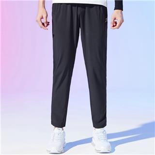 特步 男子梭织单裤 跑步运动舒适透气百搭梭织长裤880229490113