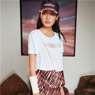 【流灵】特步 女子短袖2020夏季新款健身运动上衣跑步T恤运动服880228090239